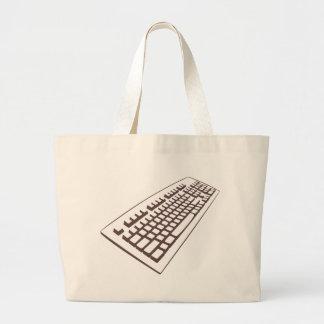 La bolsa de asas grande del friki del teclado de o