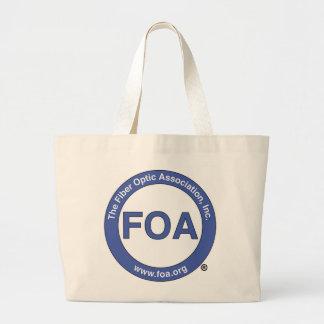 La bolsa de asas grande del logotipo de la FOA