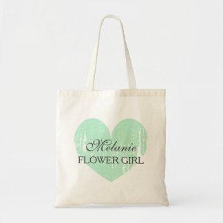La bolsa de asas gris del boda del florista de la
