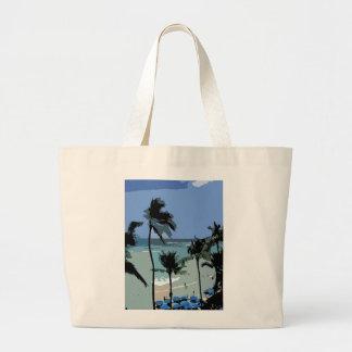 La bolsa de asas hawaiana de la escena de la playa