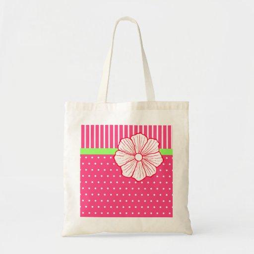 La bolsa de asas hawaiana de la flor