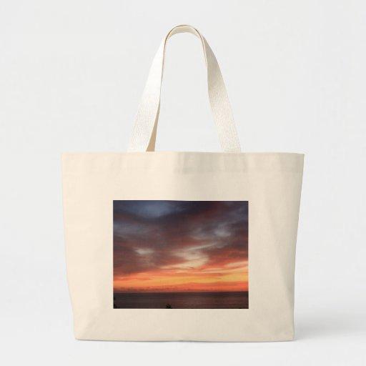 La bolsa de asas hawaiana de la puesta del sol