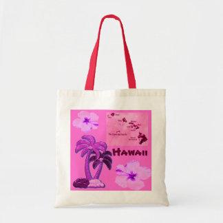 La bolsa de asas hawaiana de los árboles de coco