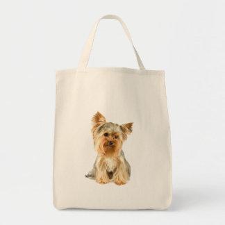 La bolsa de asas hermosa de la foto del perro de Y