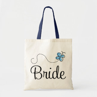 La bolsa de asas hermosa del azul de la novia del