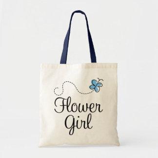La bolsa de asas hermosa del azul del florista del