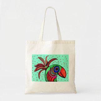 La bolsa de asas hermosa del pájaro
