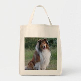 La bolsa de asas hermosa del ultramarinos del perr