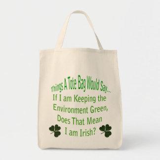La bolsa de asas irlandesa verde