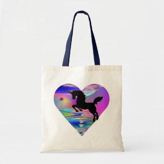 La bolsa de asas irresistible del arte del unicorn