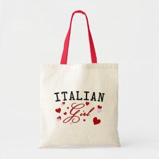 La bolsa de asas italiana de la lona del chica