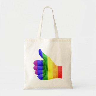 La bolsa de asas lesbiana gay del arco iris del