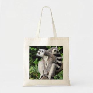 La bolsa de asas linda anillo-atada Lemur de las c