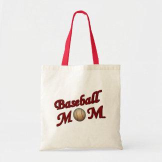 La bolsa de asas linda de la mamá del béisbol