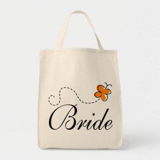 La bolsa de asas linda de la novia del día de boda