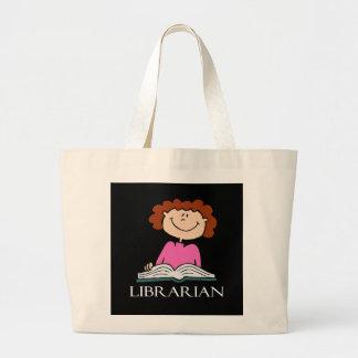 La bolsa de asas linda del bibliotecario