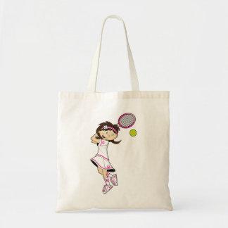 La bolsa de asas linda del chica del tenis