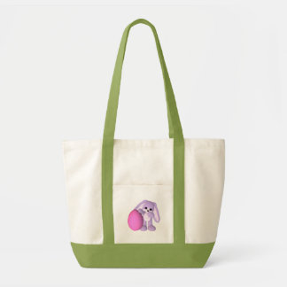 La bolsa de asas linda del conejito del huevo de