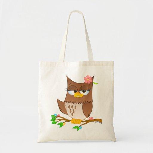 La bolsa de asas linda del dibujo animado de Olivi