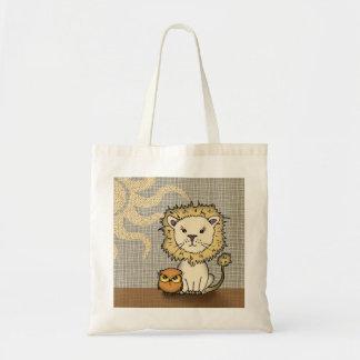 La bolsa de asas linda del león y del búho
