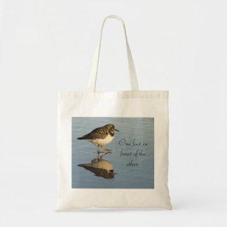 La bolsa de asas linda del pájaro de la lavandera
