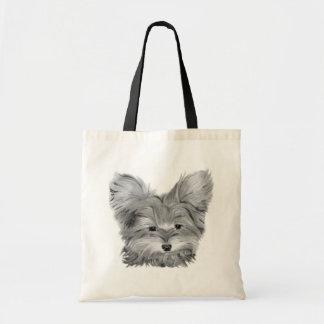 La bolsa de asas linda del perro de Yorkie