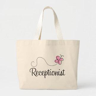 La bolsa de asas linda del recepcionista