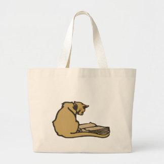 La bolsa de asas literaria del jumbo del gato