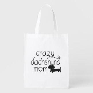 La bolsa de asas loca del perro de la salchicha de bolsas para la compra
