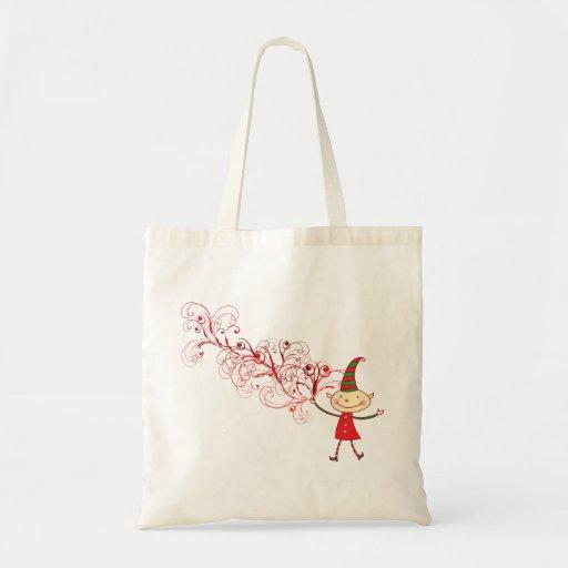 la bolsa de asas mágica del duende del navidad de