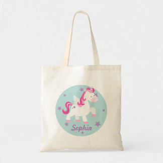 La bolsa de asas mágica personalizada rosa lindo