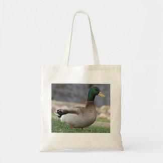 La bolsa de asas masculina del pato del pato silve