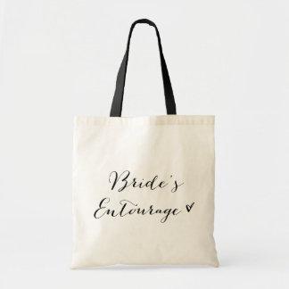 La bolsa de asas moderna de la caligrafía de la