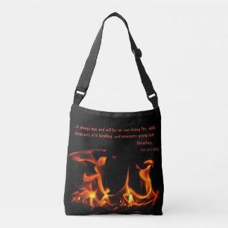 La bolsa de asas negra anaranjada de la cita del