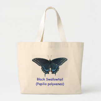 La bolsa de asas negra de Swallowtail (polyxenes d