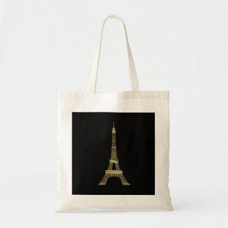 La bolsa de asas negra francesa de la torre Eiffel