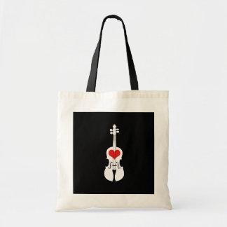 La bolsa de asas negra fresca del violín con el co