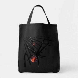 La bolsa de asas negra gótica, arañas venenosas de
