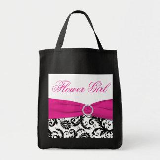 La bolsa de asas negra, rosada, blanca del florist
