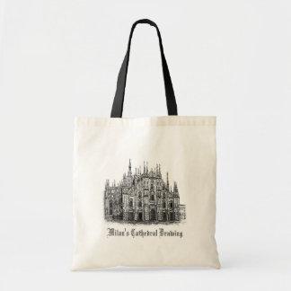 La bolsa de asas negra y blanca de la catedral de