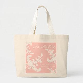 La bolsa de asas nupcial floral del fiesta del dam