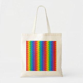 La bolsa de asas ondulada del arco iris