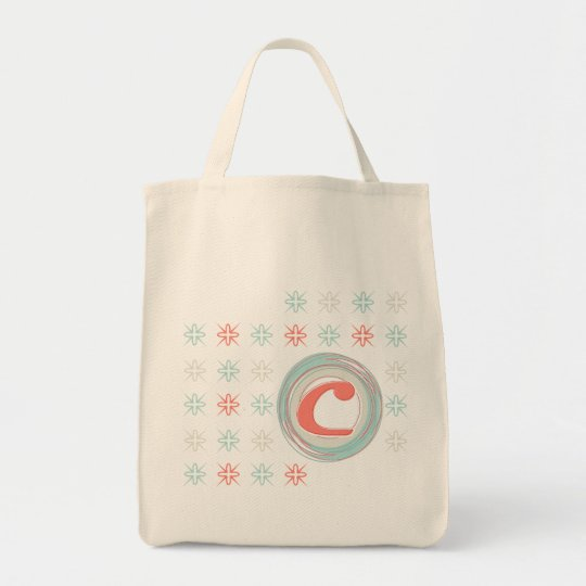 La bolsa de asas orgánica con monograma del