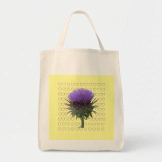 La bolsa de asas orgánica de la floración de la