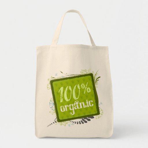 La bolsa de asas orgánica de la lona del 100%