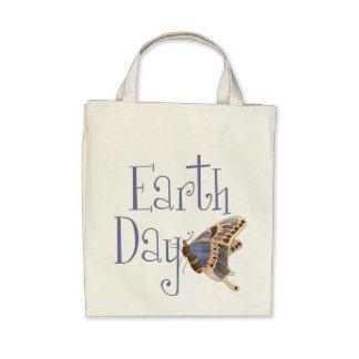 La bolsa de asas orgánica de la mariposa del Día d