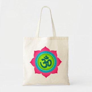 La bolsa de asas orgánica de OM Namaste Lotus de l