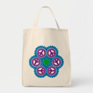 La bolsa de asas orgánica pacífica colorida