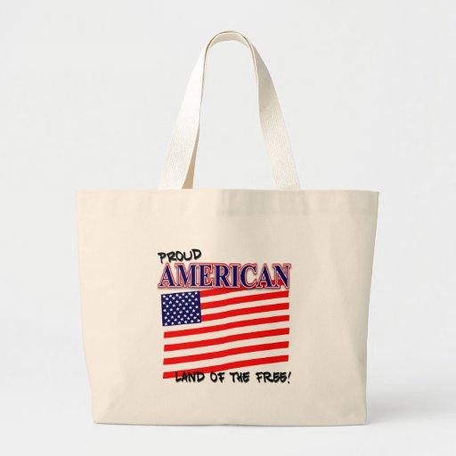 La bolsa de asas patriótica americana orgullosa
