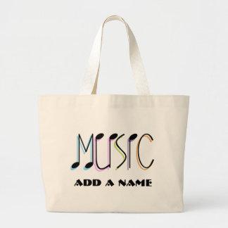La bolsa de asas personalizada de la música